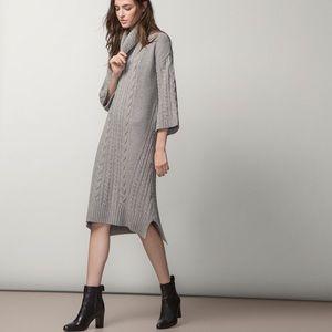 NWT Massimo Dutti Gray Chunky Knit Sweater Dress